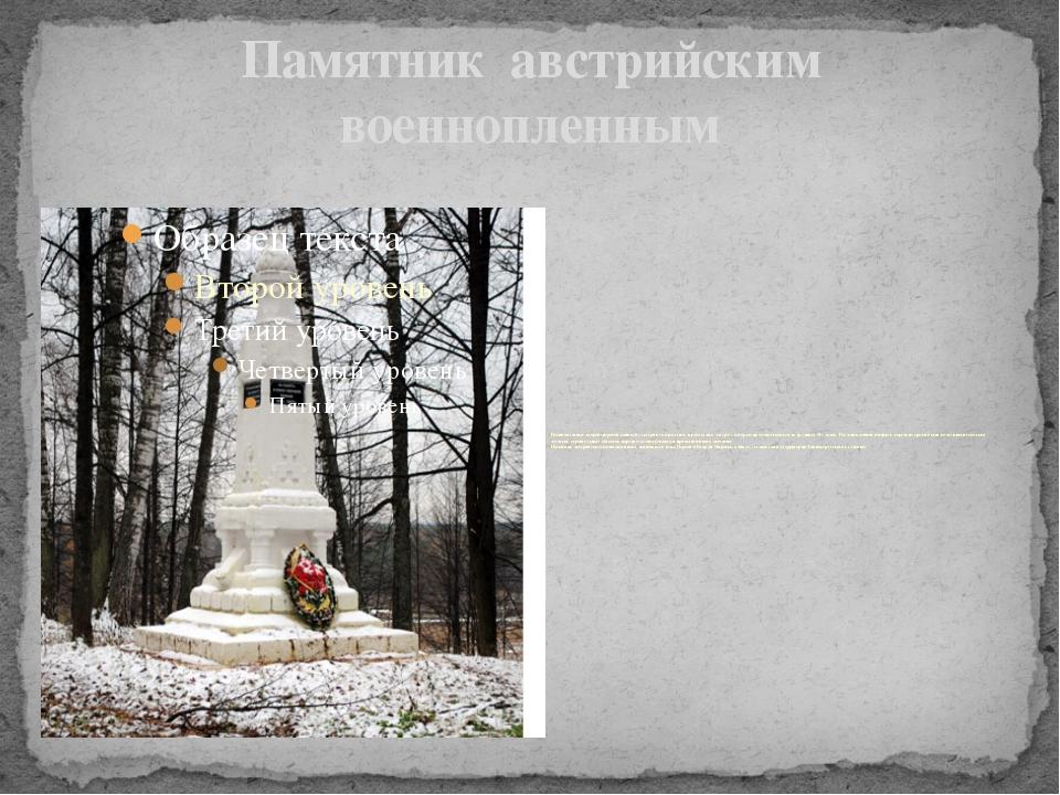 Памятник австрийским военнопленным Военнопленные второй мировой войны изАвст...
