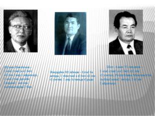 Жандарбек Мәлібеков – Елтаңба авторы, Өзбекстанға еңбегі сіңген сәулетші. Қаз