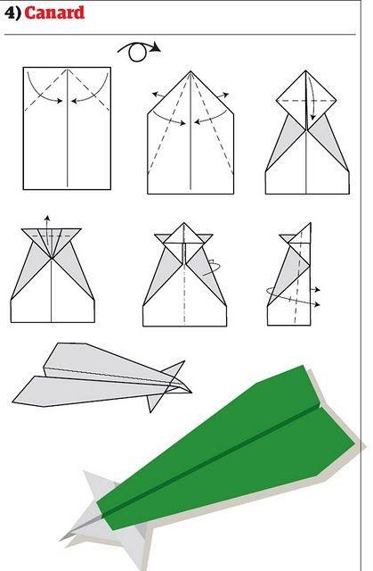 Бумажный самолетик разными способами (13 фото)