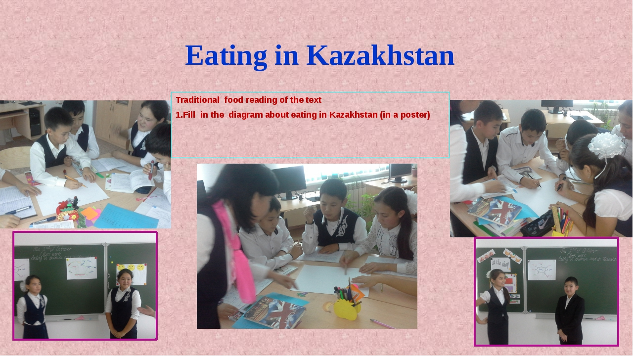 Eating in Kazakhstan Traditional food reading of the text 1.Fill in the diagr...