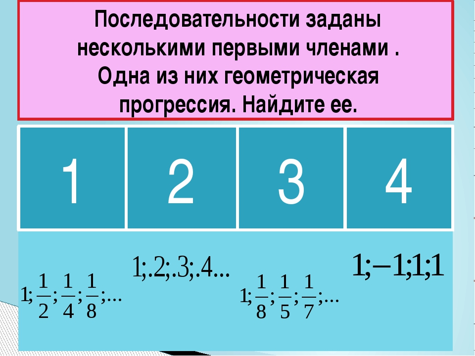 1 2 3 Последовательности заданы несколькими первыми членами . Одна из них гео...