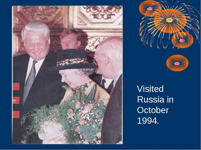 Visited Russia in October 1994.