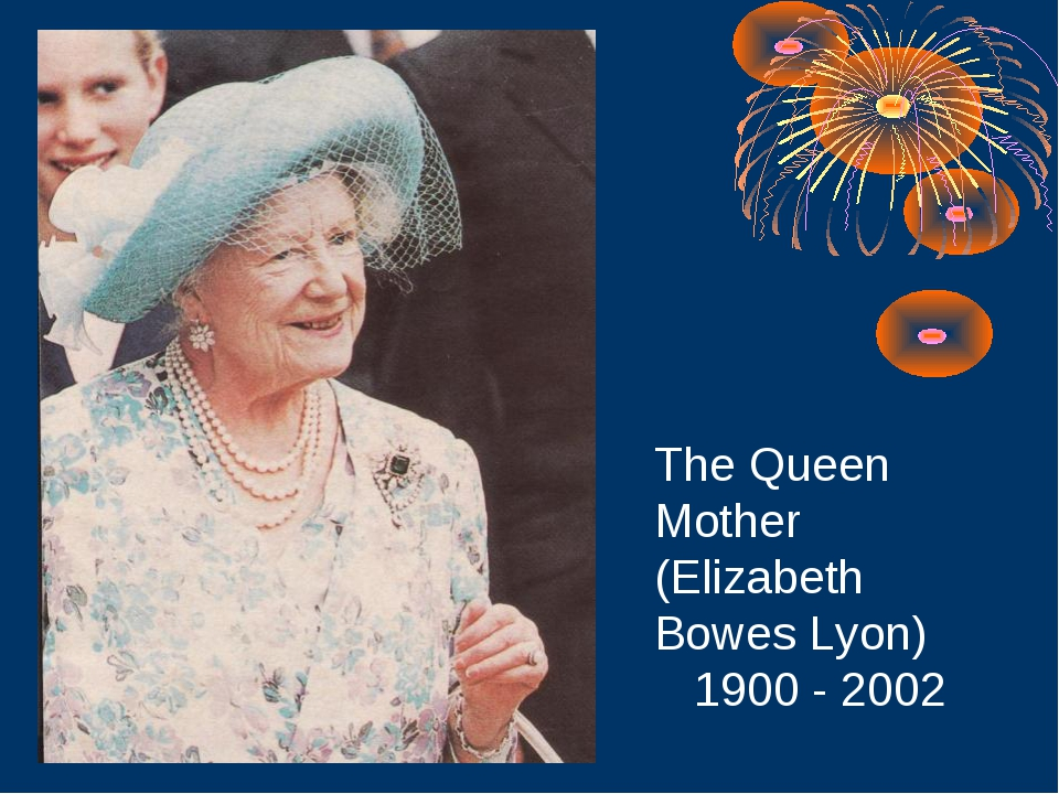 The Queen Mother (Elizabeth Bowes Lyon) 1900 - 2002
