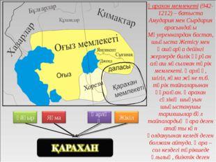 Қарахан мемлекеті (942-1212) – батыста Амудария мен Сырдария арасындағы Мәуер