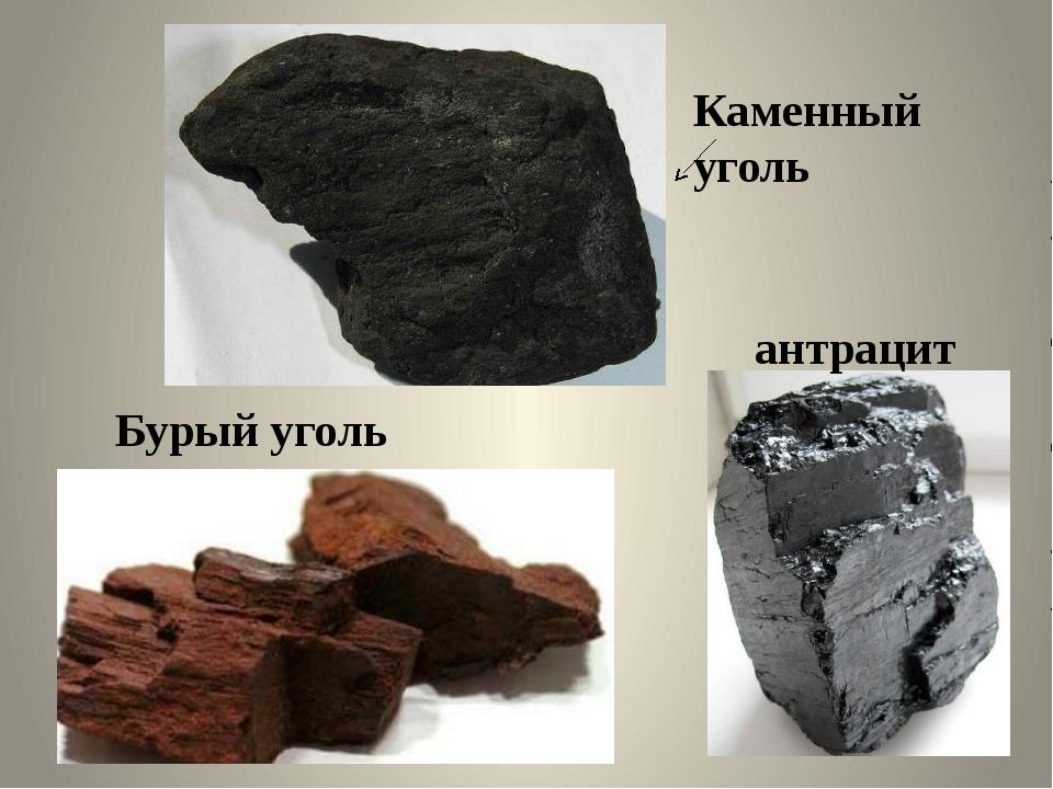 антрацит Бурый уголь Каменный уголь