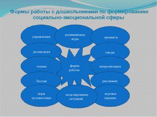 Формы работы с дошкольниками по формированию социально-эмоциональной сферы ф