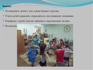 Задачи: Познакомить детей с тем, какие бывают чувства; Учить детей адекватно