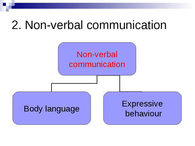 2. Non-verbal communication