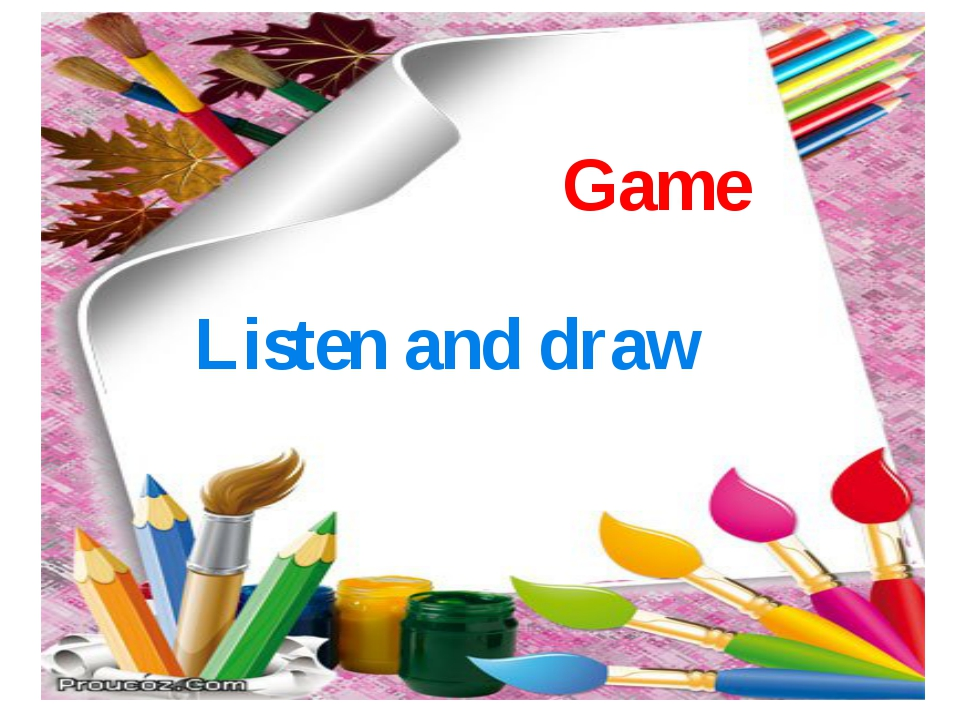 Game Listen and draw