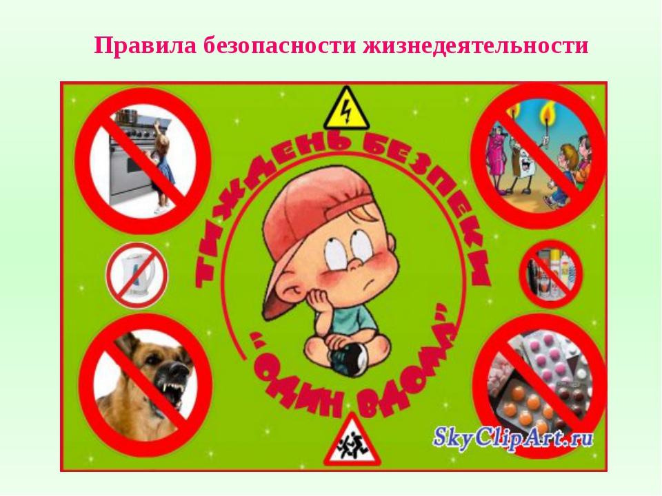 Правила безопасности жизнедеятельности