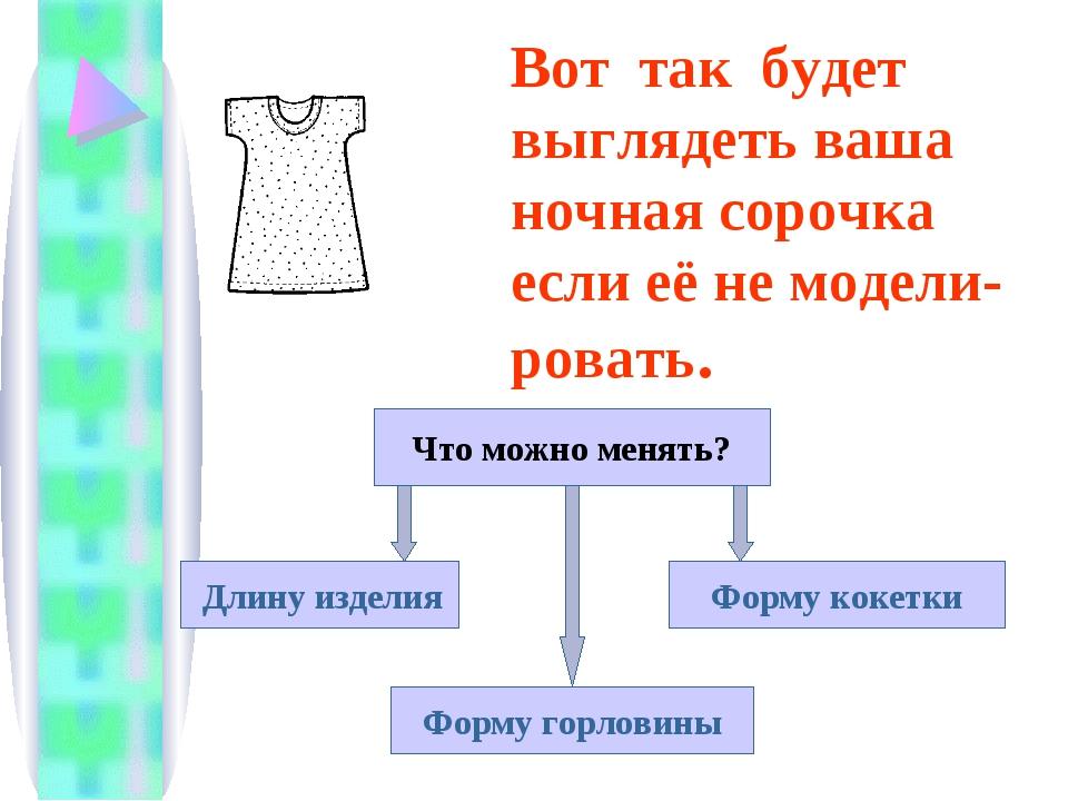 Вот так будет выглядеть ваша ночная сорочка если её не модели- ровать. Что м...