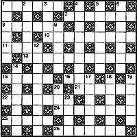 Пример разумной симметрии классического кроссворда