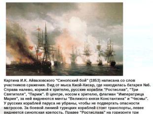 """Картина И.К. Айвазовского """"Синопский бой"""" (1853) написана со слов участников"""