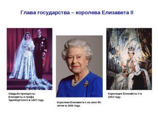 Коронация Елизаветы II в 1953 году. Глава государства – королева Елизавета II