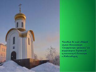 """Часовня во имя святой иконы Богоматери """"Споручницы грешных"""" на территории дор"""