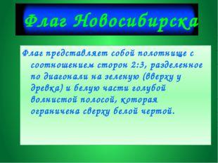 Флаг Новосибирска Флаг представляет собой полотнище с соотношением сторон 2:3