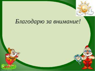 Благодарю за внимание! FokinaLida.75@mail.ru