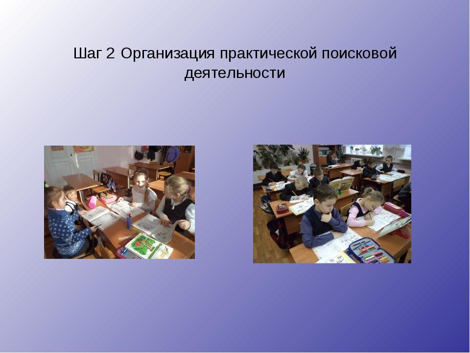 Шаг 2 Организация практической поисковой деятельности