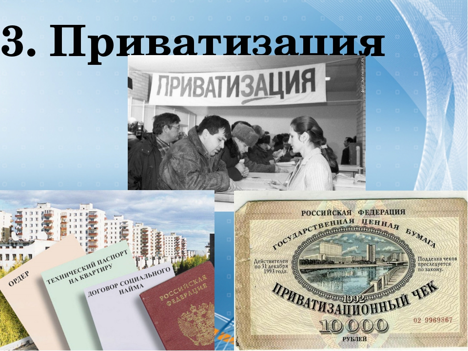 3. Приватизация