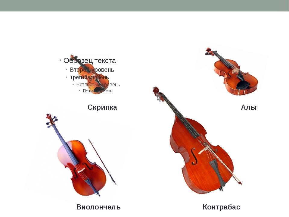 Струнные смычковые инструменты Скрипка Виолончель Альт Контрабас