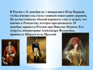 В России с 31 декабря на 1 января ввел Петр Первый, чтобы именно ель стала гл