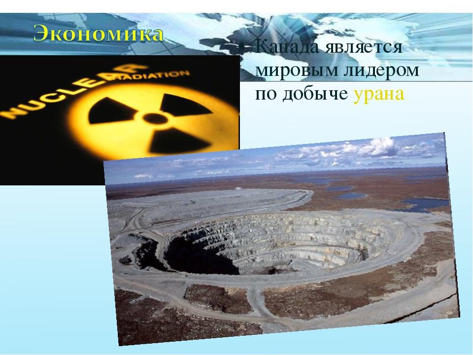 Канада является мировым лидером по добыче урана