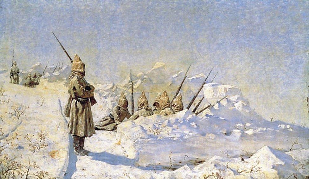 Снежные траншеи (Русские позиции на Шипкинском перевале) В. Верещагин.jpg