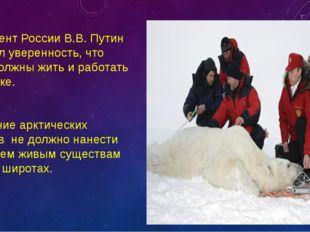 Президент России В.В. Путин выразил уверенность, что люди должны жить и работ