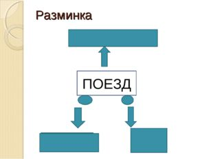 Разминка Пассажир Касса Перрон ПОЕЗД Билет