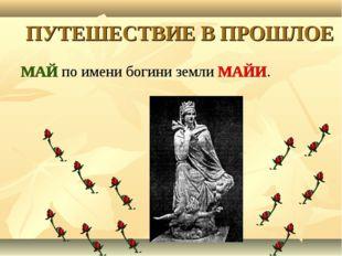 ПУТЕШЕСТВИЕ В ПРОШЛОЕ МАЙ по имени богини земли МАЙИ.