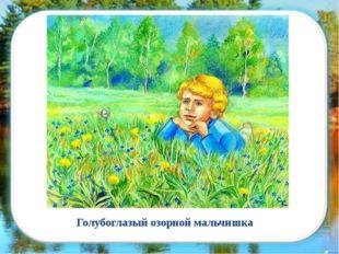 Голубоглазый озорной мальчишка