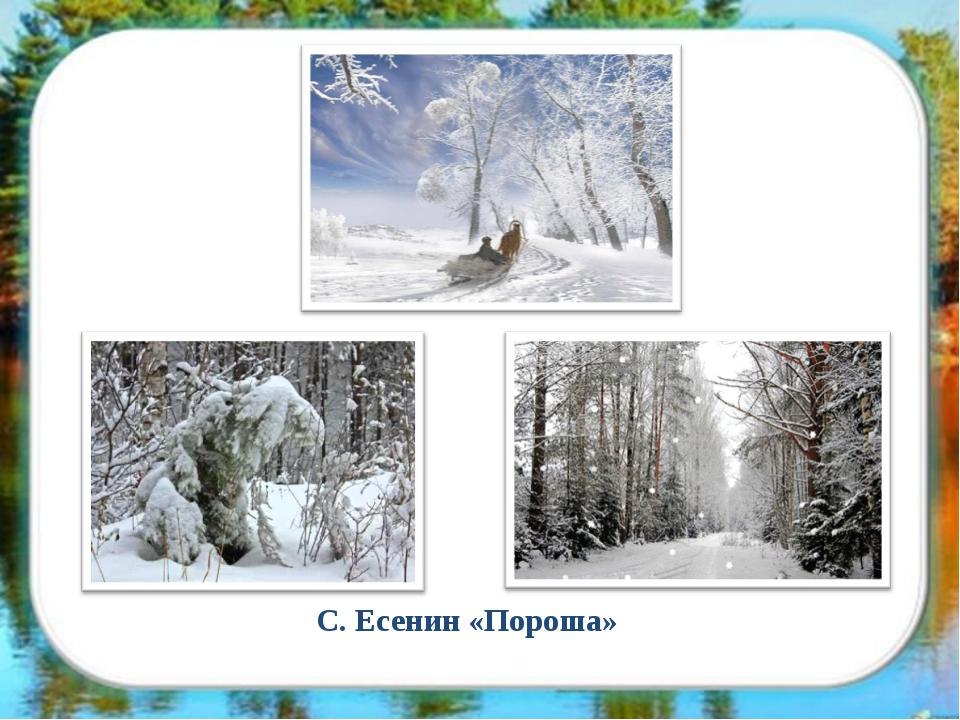 С. Есенин «Пороша»