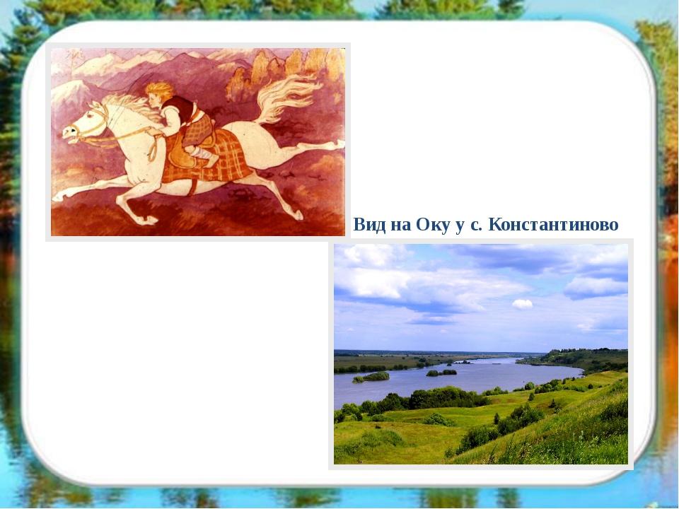 Вид на Оку у с. Константиново