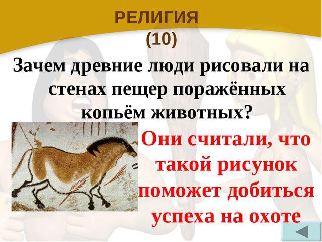 РЕЛИГИЯ (10) Зачем древние люди рисовали на стенах пещер поражённых копьём жи...