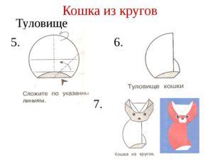 Кошка из кругов Туловище 5. 6. 7.