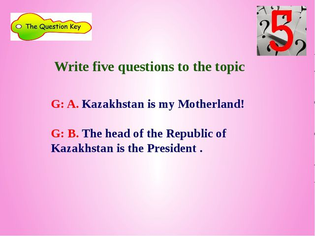 Test:  1. Who is the head of the state? a)President b) Khan c) Prime-Min...