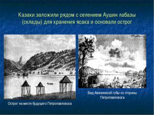 Казаки заложили рядом с селением Аушин лабазы (склады) для хранения ясака и о