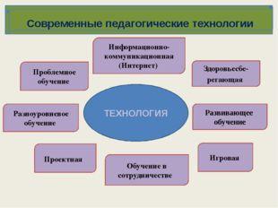 Современные педагогические технологии Информационно-коммуникационная (Интерне