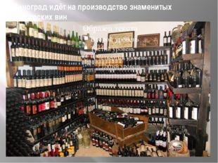 Виноград идёт на производство знаменитых болгарских вин