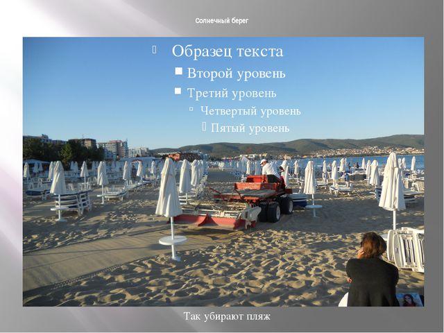 Солнечный берег Так убирают пляж