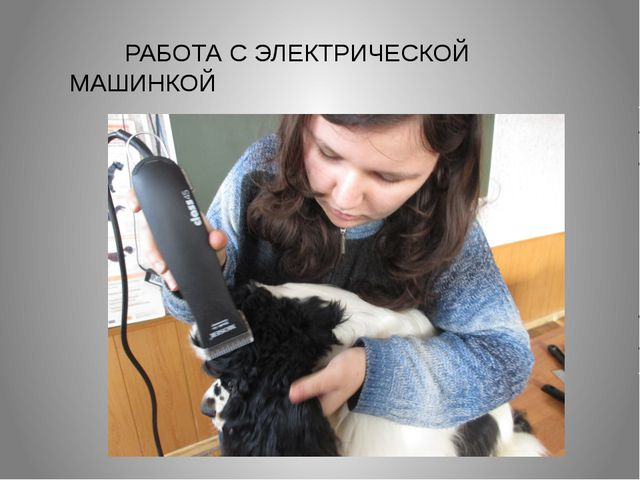 РАБОТА С ЭЛЕКТРИЧЕСКОЙ МАШИНКОЙ