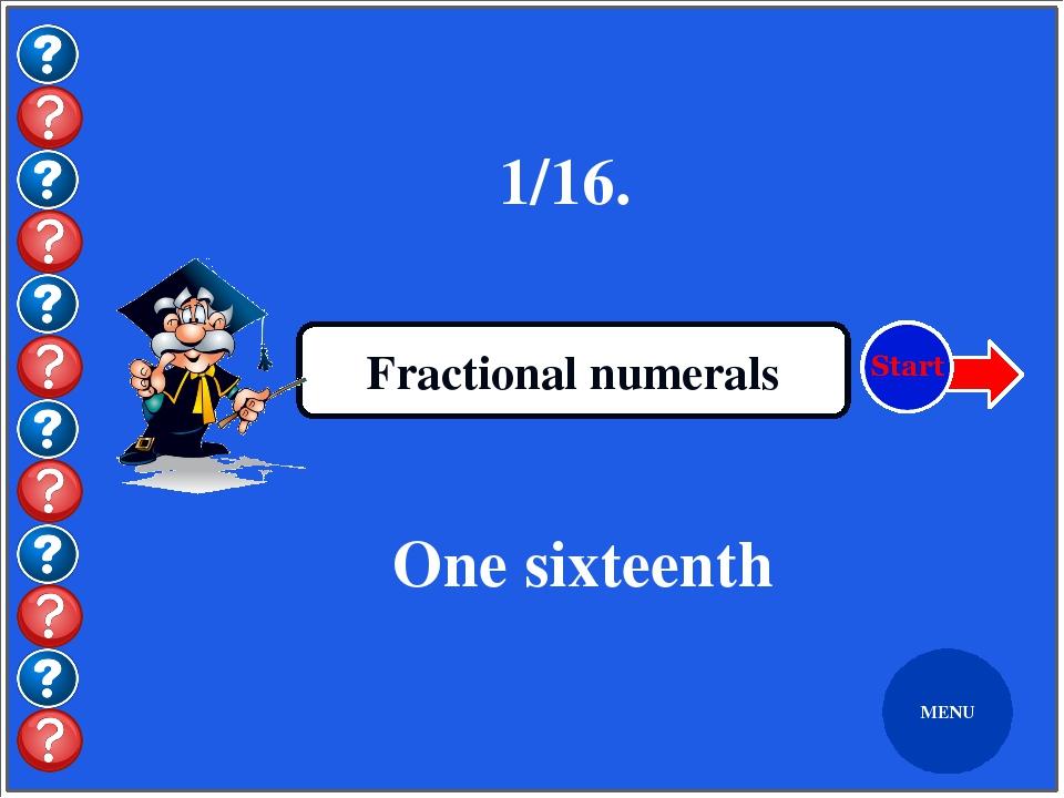 Бірінші сабақ Ordinal numerals The first lesson MENU