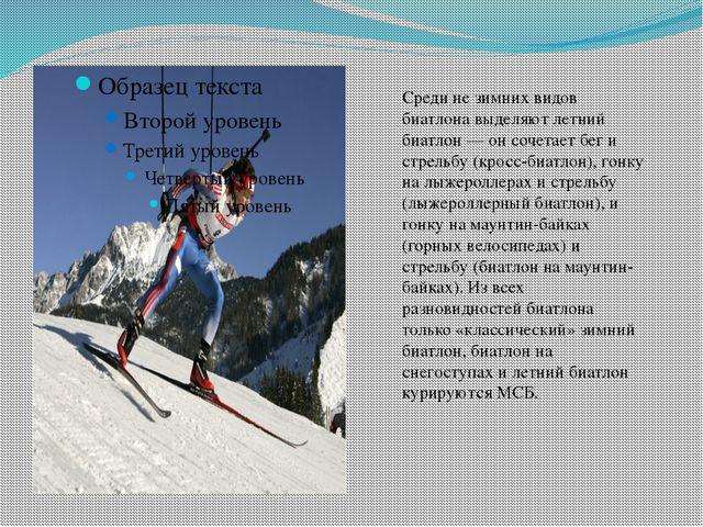 Среди не зимних видов биатлона выделяютлетний биатлон — он сочетает бег и ст...