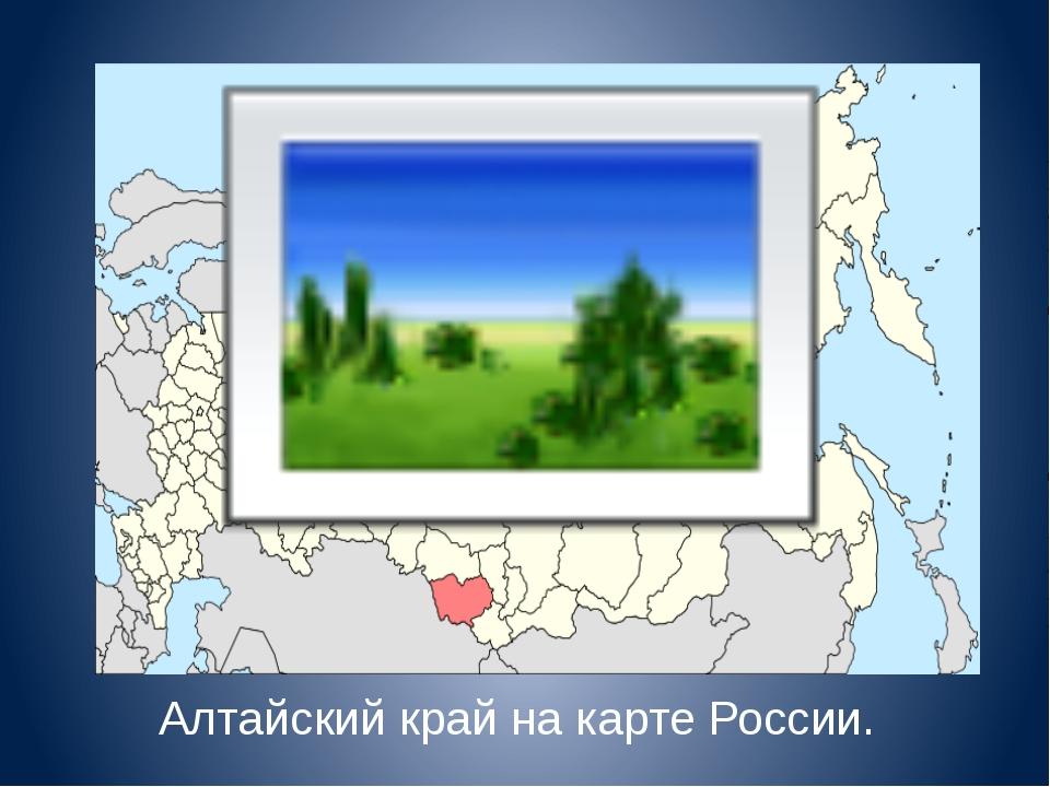 Алтайский край на карте России.