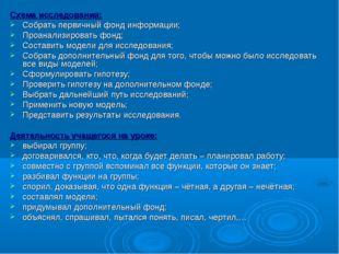 Схема исследования: Собрать первичный фонд информации; Проанализировать фонд;