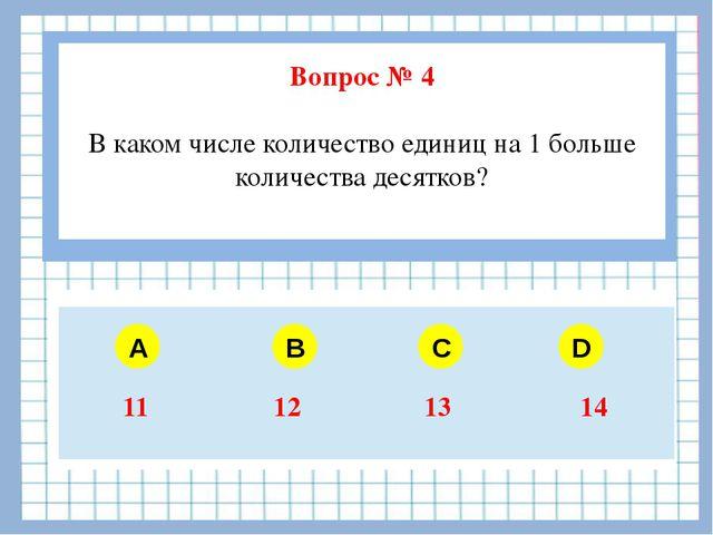 Вопрос № 4 В каком числе количество единиц на 1 больше количества десятков?...