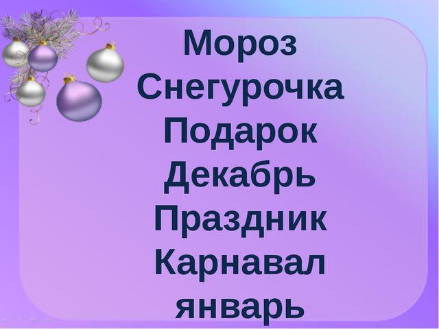 Мороз Снегурочка Подарок Декабрь Праздник Карнавал январь