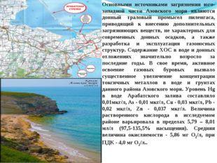 Основными источниками загрязнения юго-западной части Азовского моря являются