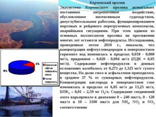 Керченский пролив Экосистема Керченского пролива испытывает постоянное антроп