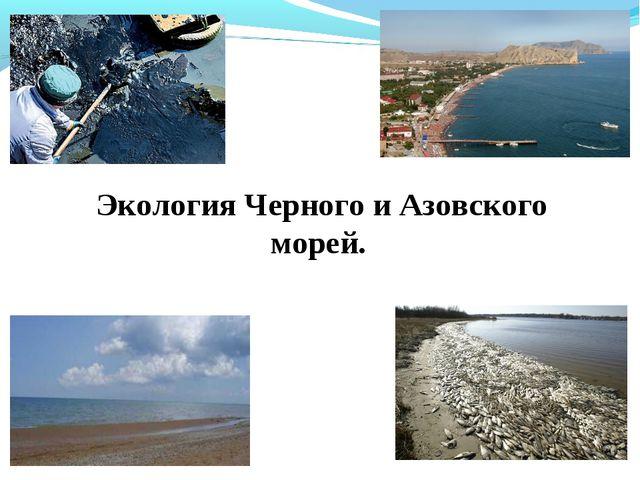 Экология Черного и Азовского морей.
